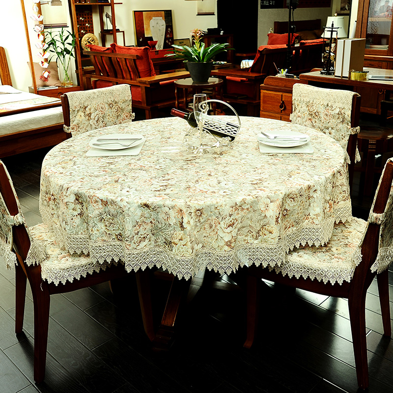 Ji lida european tablecloth round coffee table cloth tablecloth bugaboo pastoral coffee table cloth table cloth chair cushion chair cushion backrest