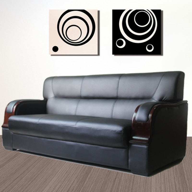 Ji tong deposit office sofa minimalist fashion business reception parlor three bits leather sofa office furniture