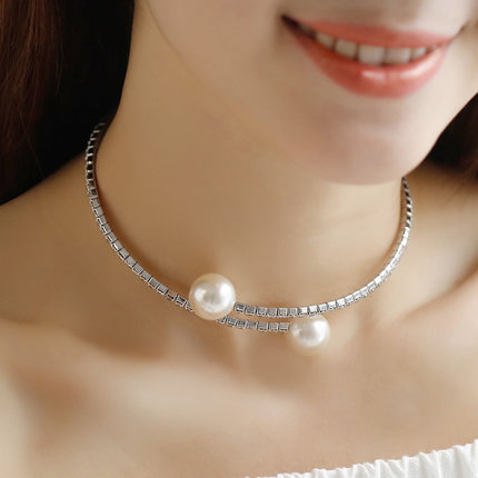 Jiao bei faux pearl necklace female clavicle simple chain korea jewelry japan and south korea wild autumn and winter accessorise wls