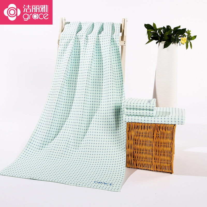 Jie ya cotton towels double cotton yarn increased thickening absorbent towel soft towel couple models specials free postage