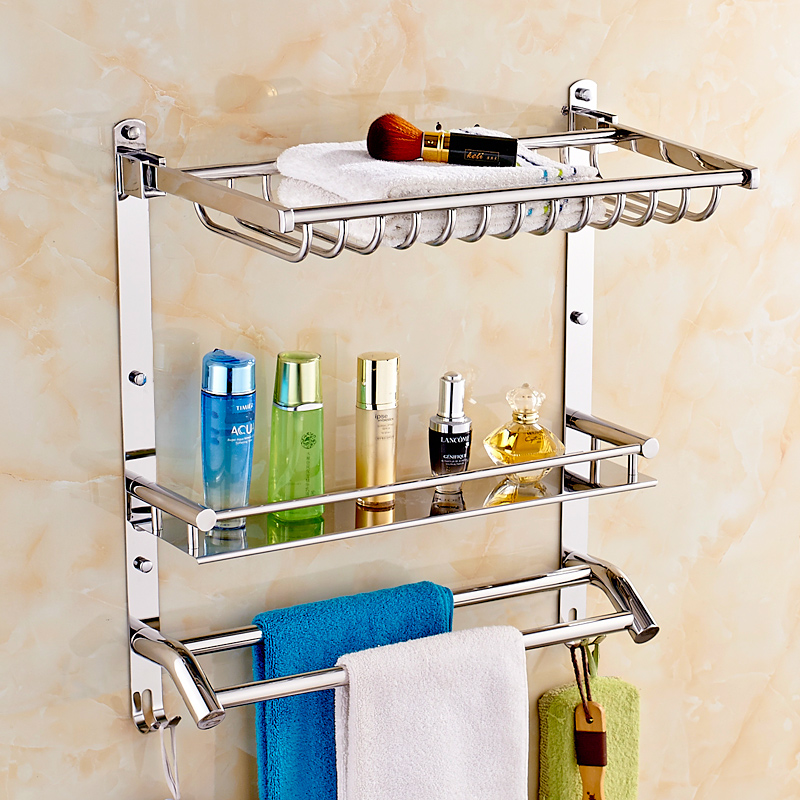 Jiesha lang 304 stainless steel basket basket racks bathroom towel rack bathroom towel rack bathroom accessories wall