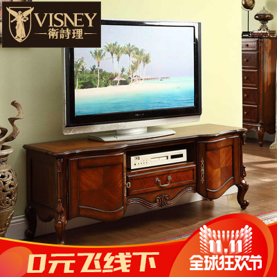 Jill rationale furniture t.j. american solid wood tv cabinet 1.5 m cabinet american living room hall cabinet w2