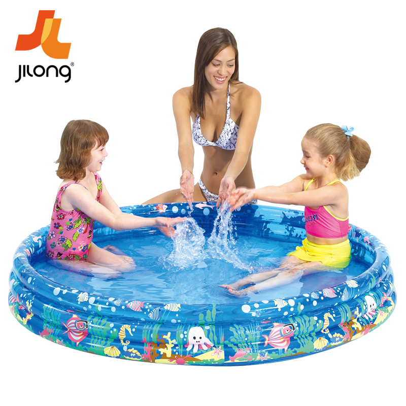 Jilong children swimming pool inflatable pool thick oversized children's wading pool family pool ocean ball pool toys