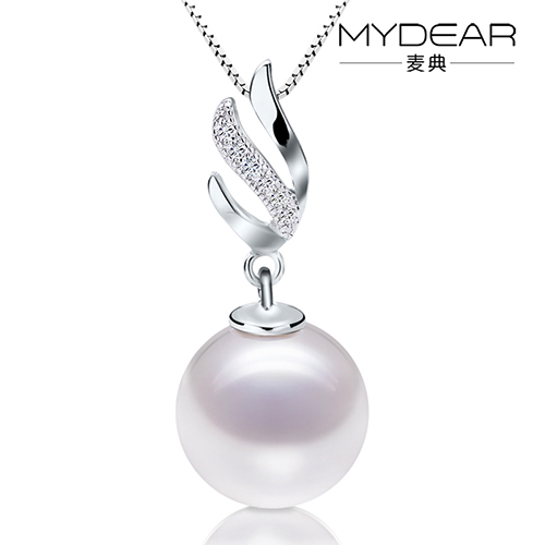 Jimmy code jewelry natural white freshwater pearl pendant light flawless perfect circle 925 silver gilt female special offer free shipping