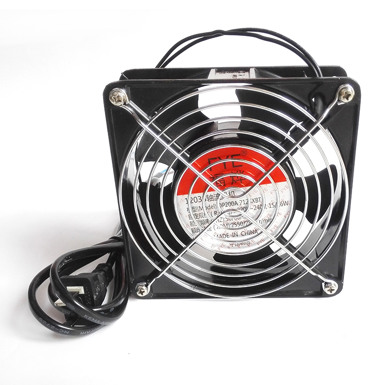 Jin yu fye fu ye full copper cabinet cooling fan 12038 220 v dual ball bearing fan with wire mesh belt