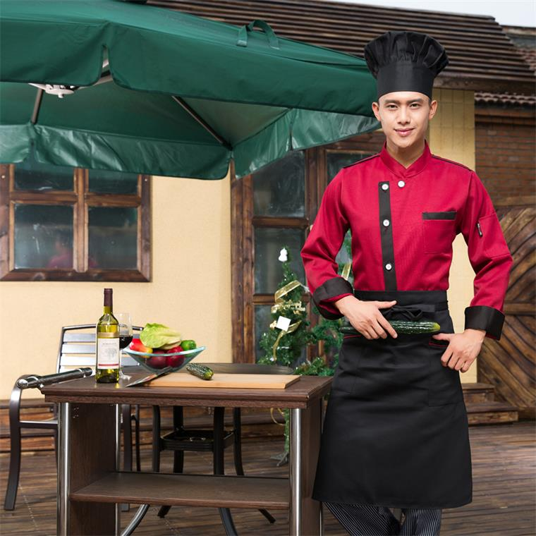 Jinfeng kai lok western hotel chef clothing long sleeve fall and winter clothes chef kitchen kitchen beautician overalls