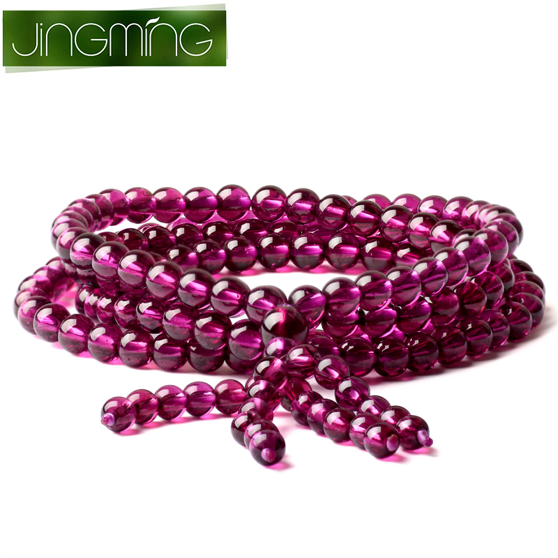 Jing ming more laps around the crystal rose garnet bracelet purple teeth black bracelets high purple specifications female jewelry