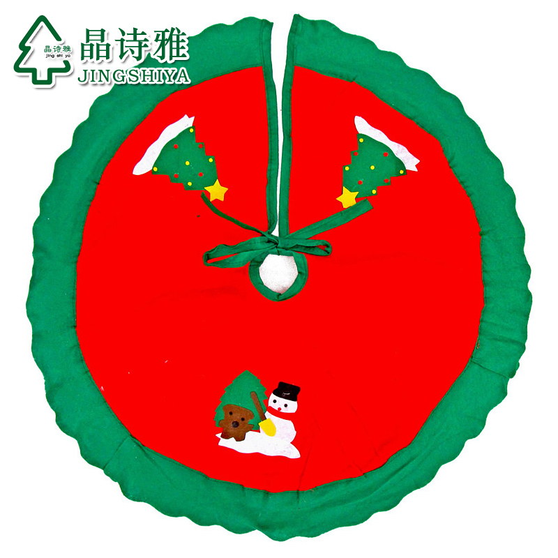 Jing shi ya wovens christmas tree skirt christmas tree christmas tree skirt apron diameter 90cm printing random hair