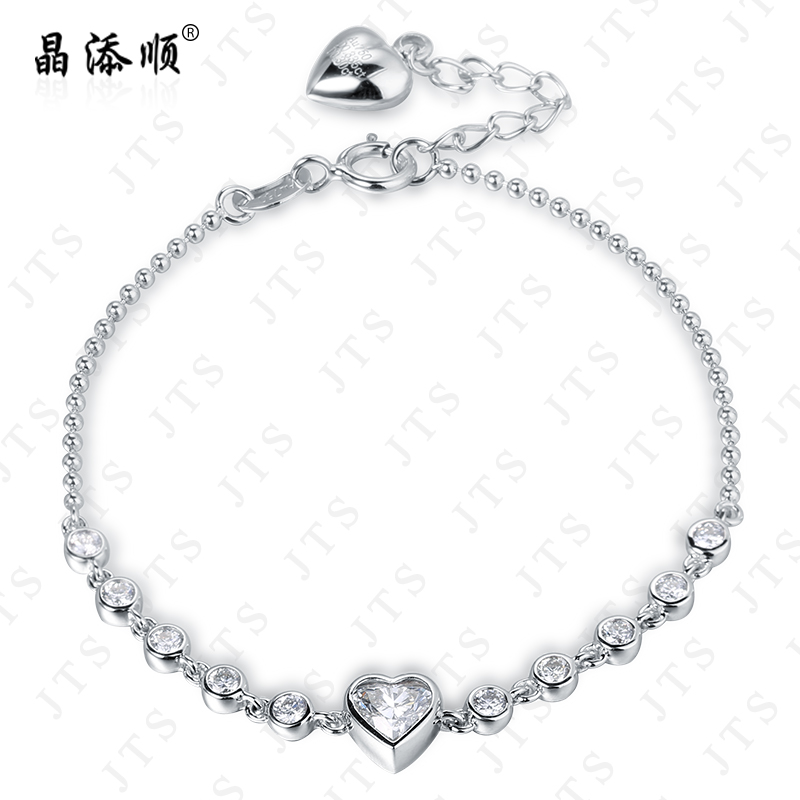 Jing tian shun heart k gold bracelet natural south africa diamond bracelet bracelet female models k gold diamond cluster