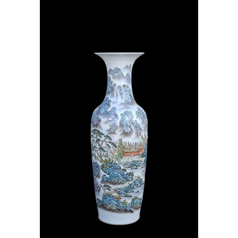 Large Chinese Ceramic Floor Vase Vase And Cellar Image Avorcor