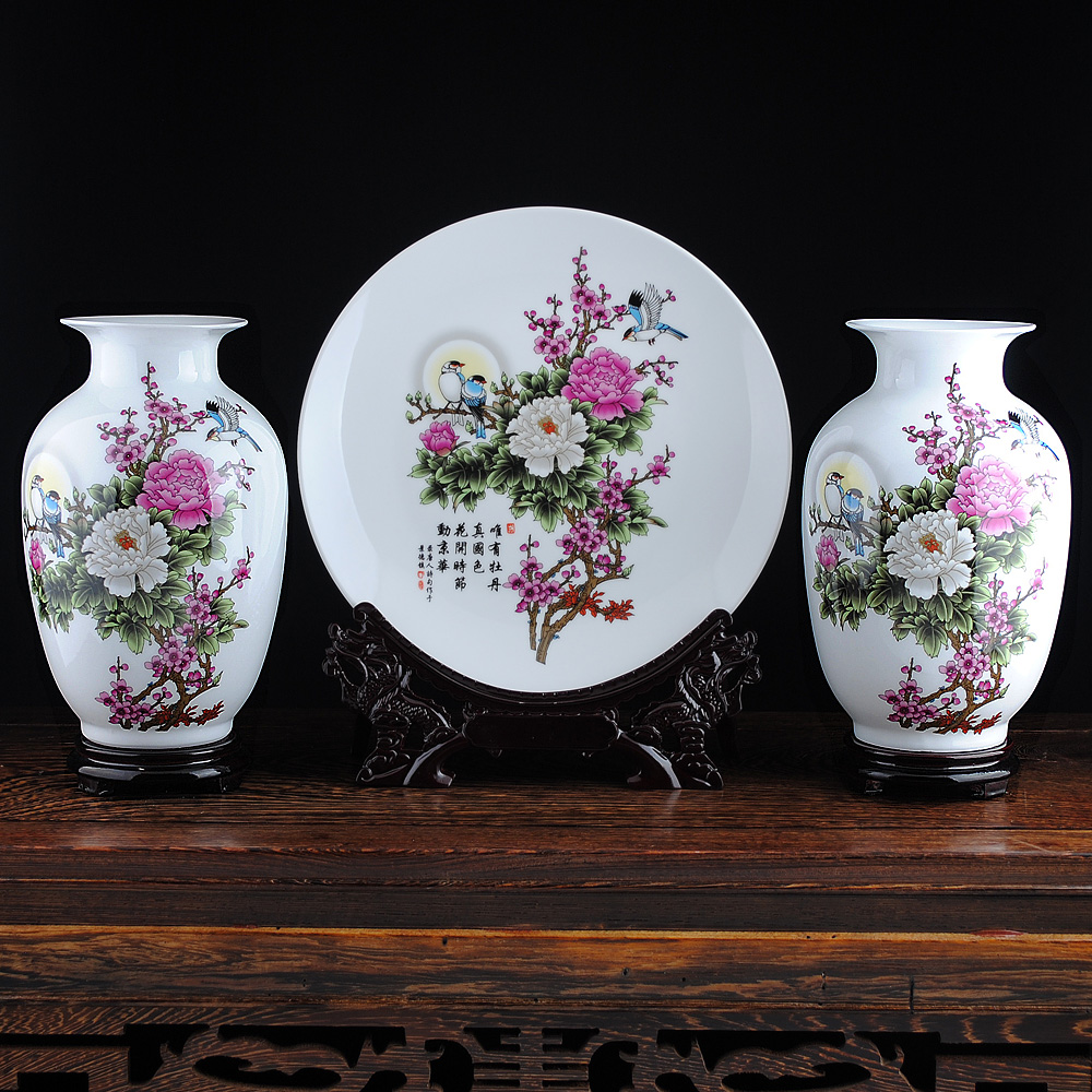 China ceramic vase sets china ceramic vase sets shopping guide at get quotations jingdezhen ceramic vase modern and stylish home accessories living room elixir three sets crafts pendulum pieces reviewsmspy