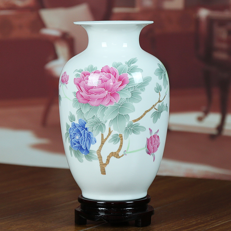 Jingdezhen ceramic vase modern home living room decorations fine bone china glaze color simple chinese ornaments