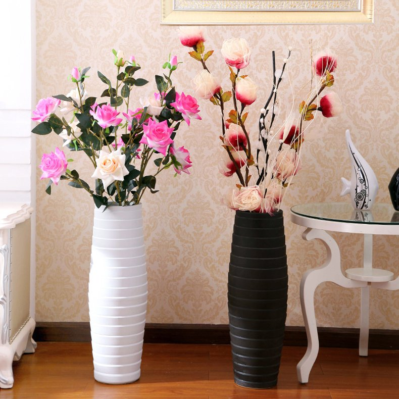 Get Quotations · Jingdezhen Ceramics Modern European Minimalist Living Room  Floor Vase Large Vase Of Dried Flowers Vase Decoration Part 71