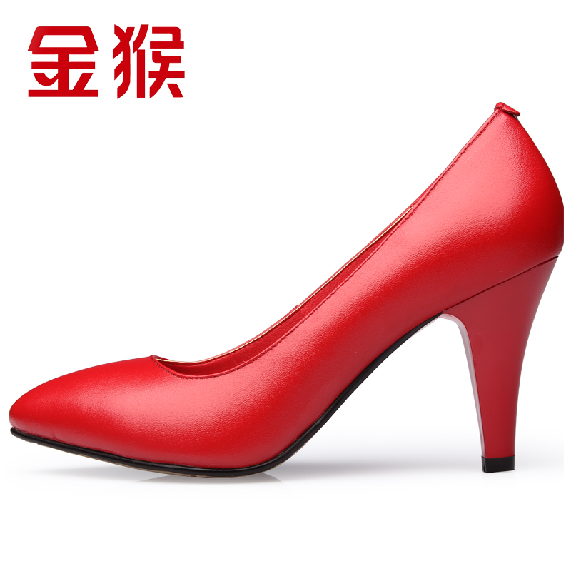 Jinho/monkey new summer pointed heels single shoes women fine with shallow mouth single shoes autumn autumn shoes shoes