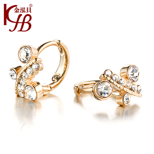 Get Quotations Jinhong S Jewelry Full Of Diamond Flower Earrings Korea Crystal Female Hoop