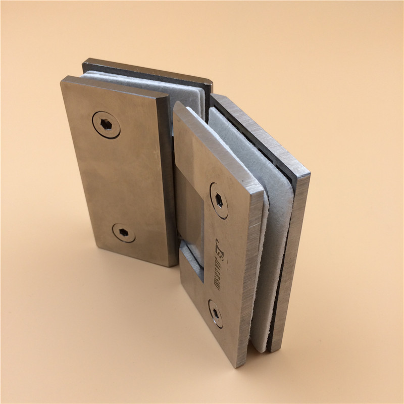 Jls stainless steel glass door hinge 135 degrees stainless steel glass hinge glass door touch door spring hinge chain Hinge