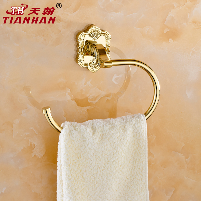 John day color carved continental gilt bathroom towel ring gold plated bathroom towel bar bathroom hardware accessories