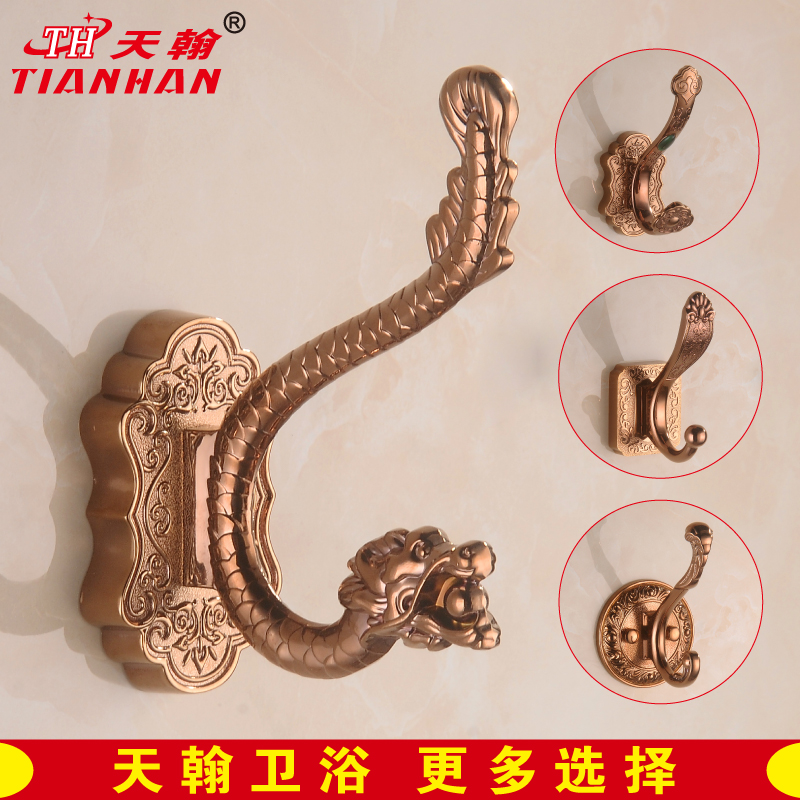 John day toiletries continental rose gold coat hook thick carved single yigou single hook coat hooks metal pendant