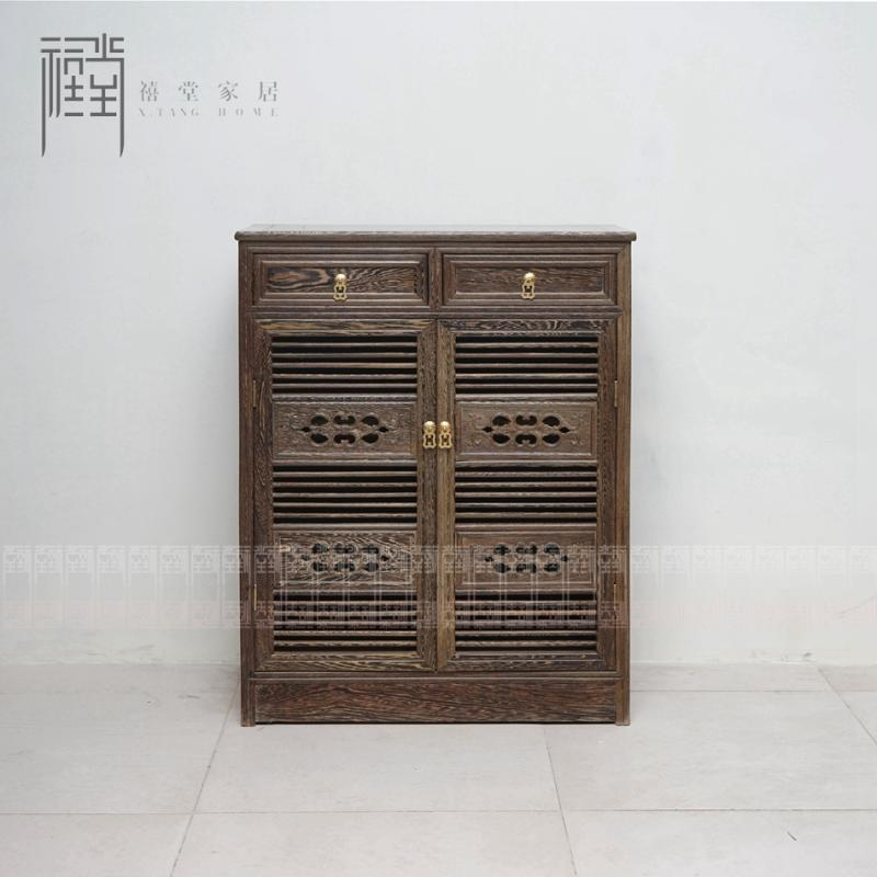 Jubilee hall hardwood mahogany furniture wenge wood antique chinese classical furniture paint furniture shoe cabinet entrance foyer
