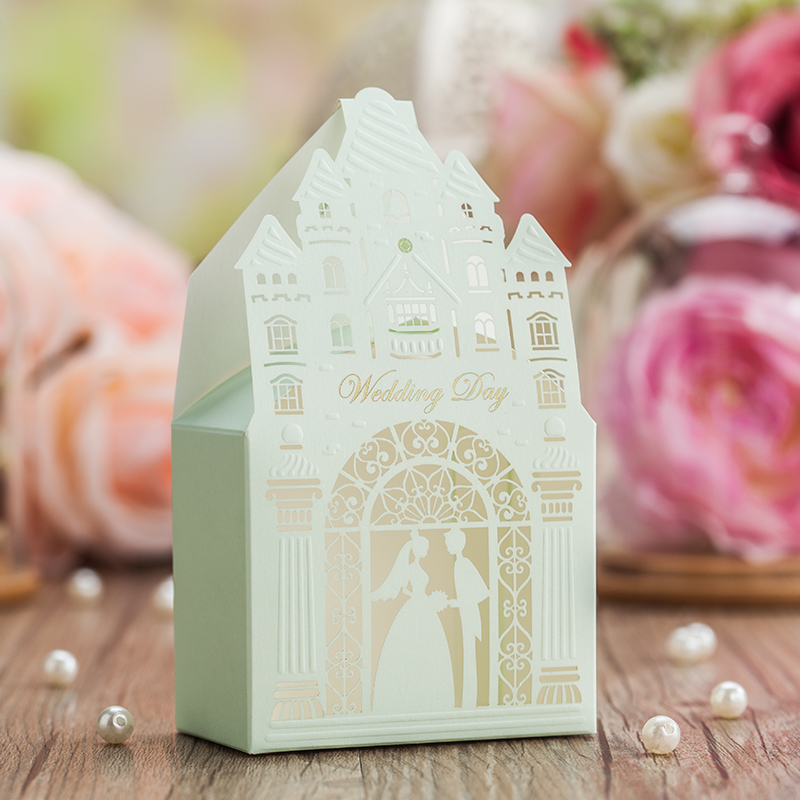 Jue given 2016 european creative wedding candy box candy box candy box carton mint green wedding candy box candy bag