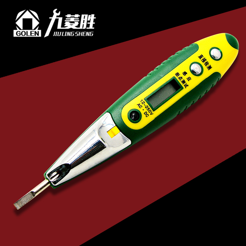 Juln digital test pencil electrician electric pen test electric pen multifunction digital sensor test with buzzer