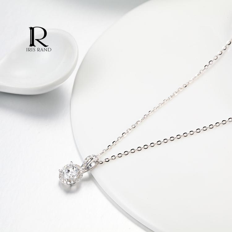 China diamond necklace mountings china diamond necklace mountings get quotations k goldpt950 platinum diamond pendant in sterling silver mountings female models diamond necklace clavicle mozeypictures Choice Image