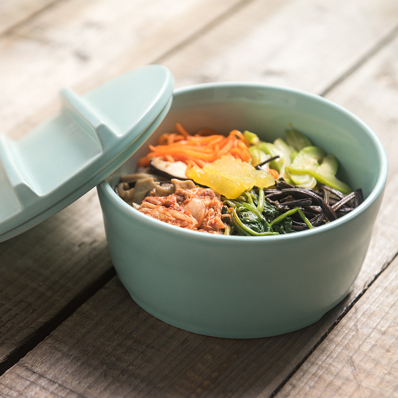 Ka billion butthole creative japanese and korean style ceramic tableware bowl of instant noodles bowl bowl of instant noodles bowl with lid large number of students