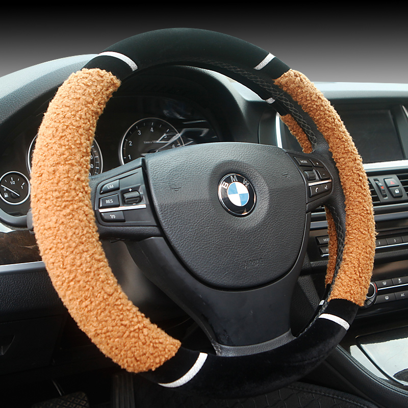Kai chen d50/t70/r50/r30/r50x matinal new plush car to cover plush wool cashmere steering wheel cover Steering wheel cover