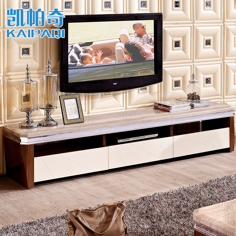 Kai paqi marble tv cabinet tv cabinet coffee table combination package minimalist modern living room bedroom cabinet chazhuo