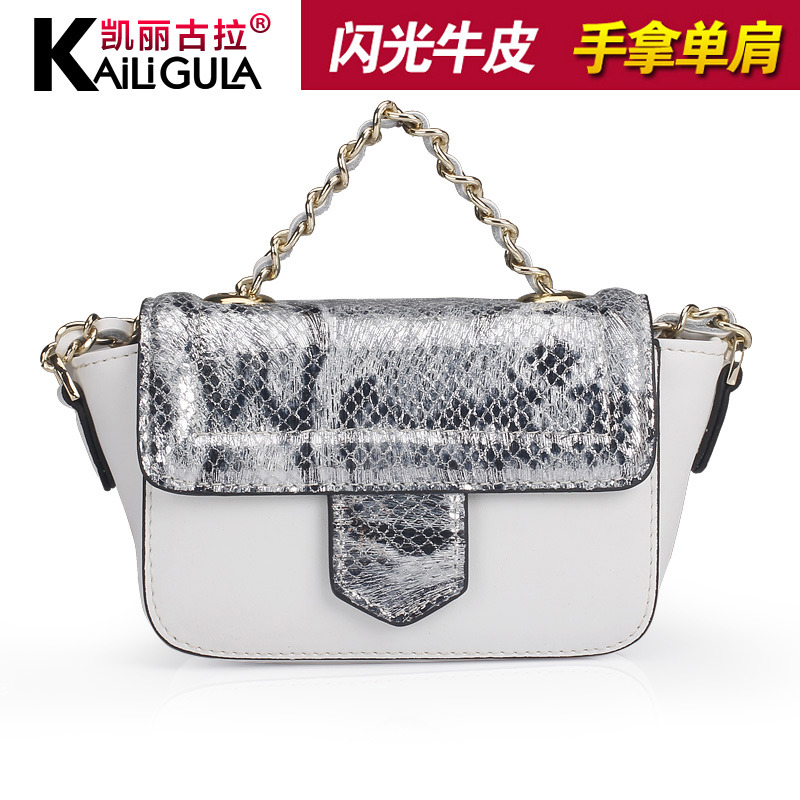 Kailigula leather mini bag diagonal small bag 2016 new spring and summer hit color chain shoulder bag handbag bag influx of article