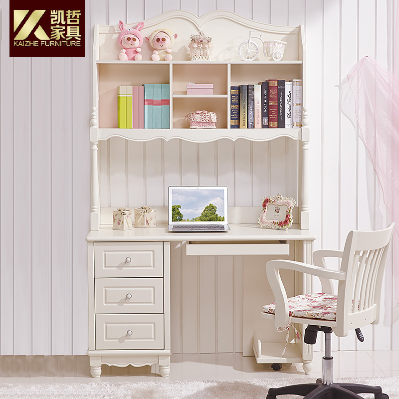 Get Ations Kaizhe Furniture Korean Combination Bookcase Desk Chair Student Study Table Home Simple Suit