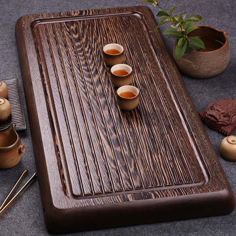 Kam grid inblock king wenge wood tea tray tea sets mahogany tea sea drainage kung fu tea tea tray