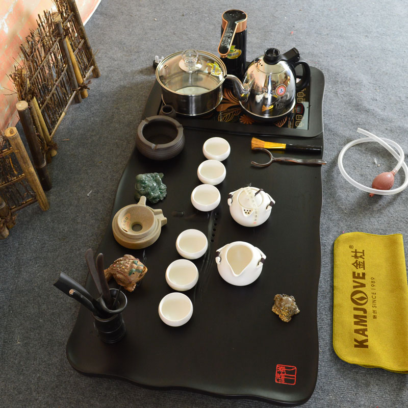 Kamjove gold stove electric stove tea tray purple ebony wood piece tea sets opening film ru ru tea sets [water]