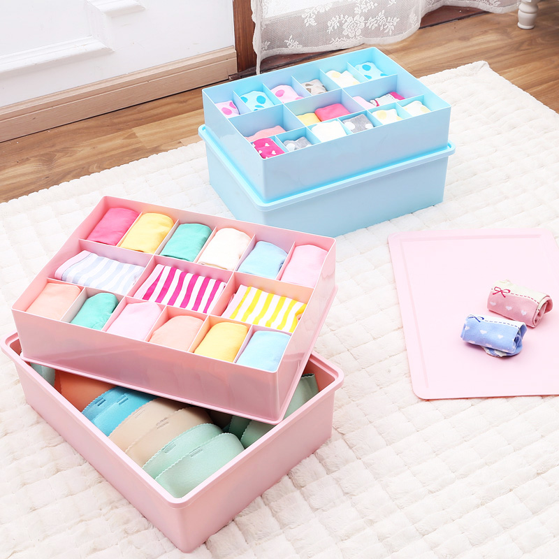 Kangfeng increase heightening covered plastic storage box underwear box storage box bra underwear socks underwear storage drawer storage box