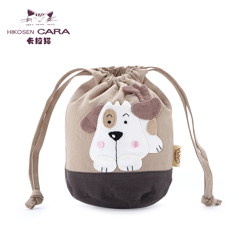Kara hikosen cara tide cartoon cute cell phone bag purse coin bag small cloth bag canvas drawstring