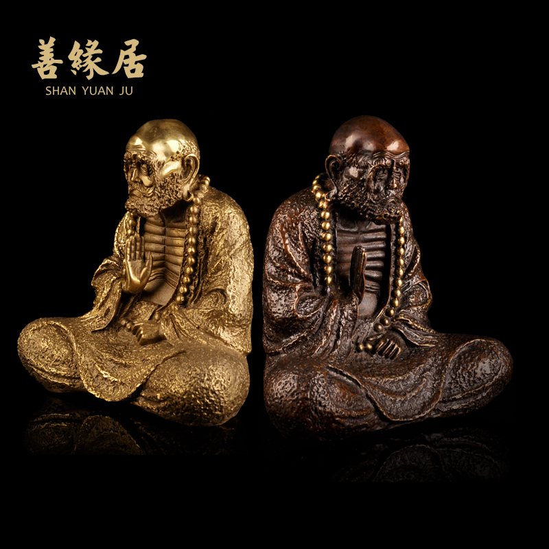 Karma ranking opening of pure copper bodhidharma bodhidharma buddha ornaments crafts home decorations new home furnishings gifts