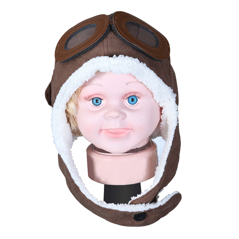 Kat decorated according to the spring children plus velvet ear cap baby hat cartoon cap aircraft