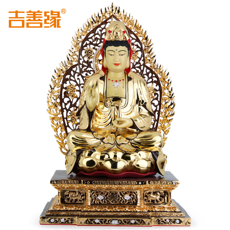 Kat karma copper gilt guanyin bodhisattva peace of buddha ornaments home feng shui crafts decorations 0427
