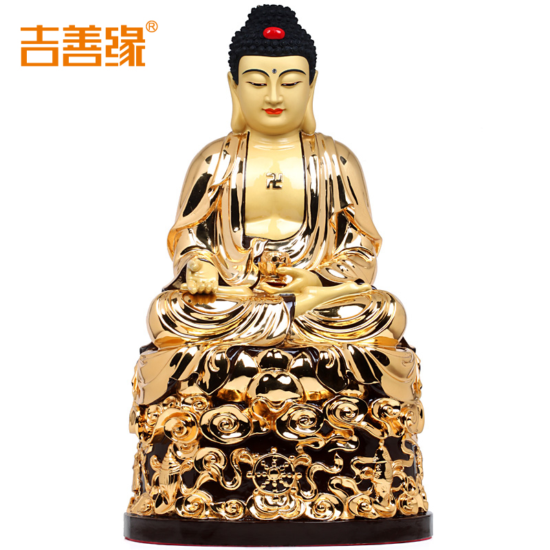 Kat karma copper gilt statue of amitabha buddha ornaments ornaments buddha with supplies 8202