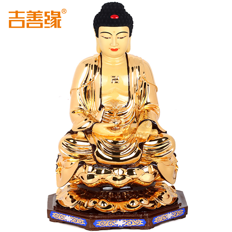 Kat karma gilt copper medicine buddha ornaments large bronze statue of buddha ornaments home furnishings accessories 8209