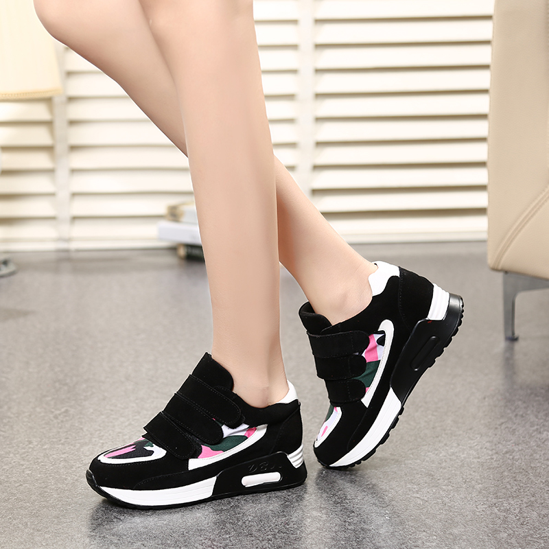 Kat she spell color camouflage sports shoes cow suede low to help velcro shoes women shoes spring new shoes shook his shoes