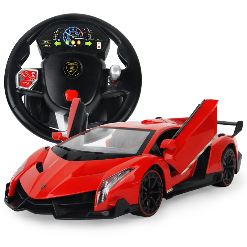 Katsuo lamborghini poison charging boy steering wheel remote control car electric remote control car toys for children