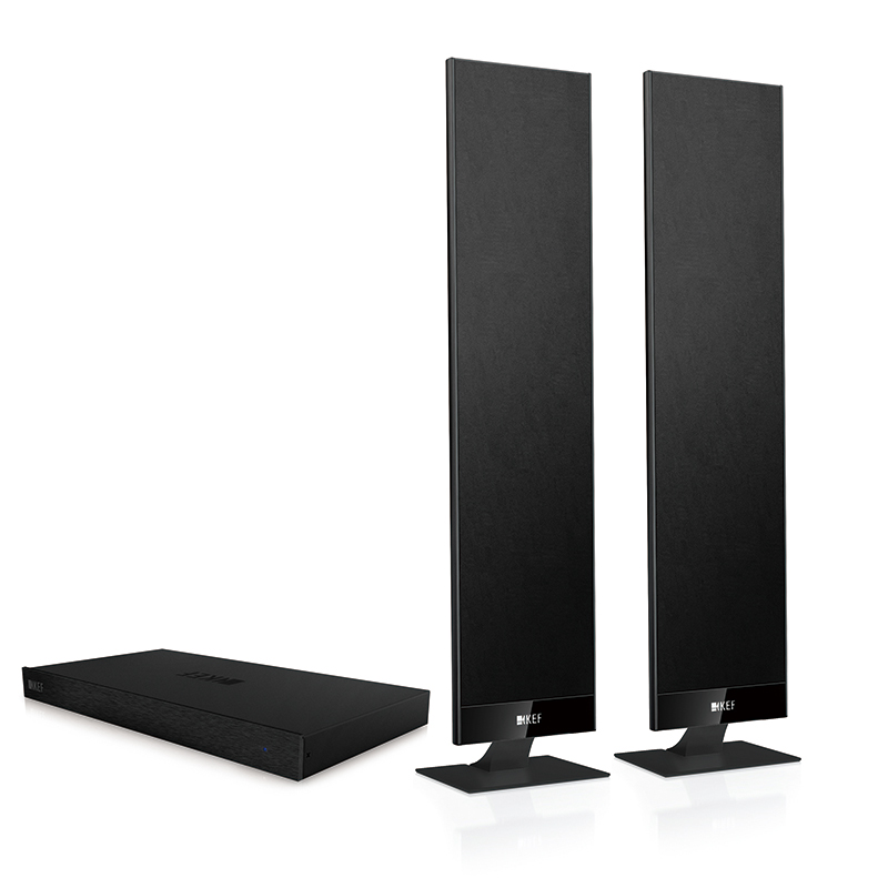 Kef v300 tv audio system with amplifier decoding hdmi home theater hifi fidelity