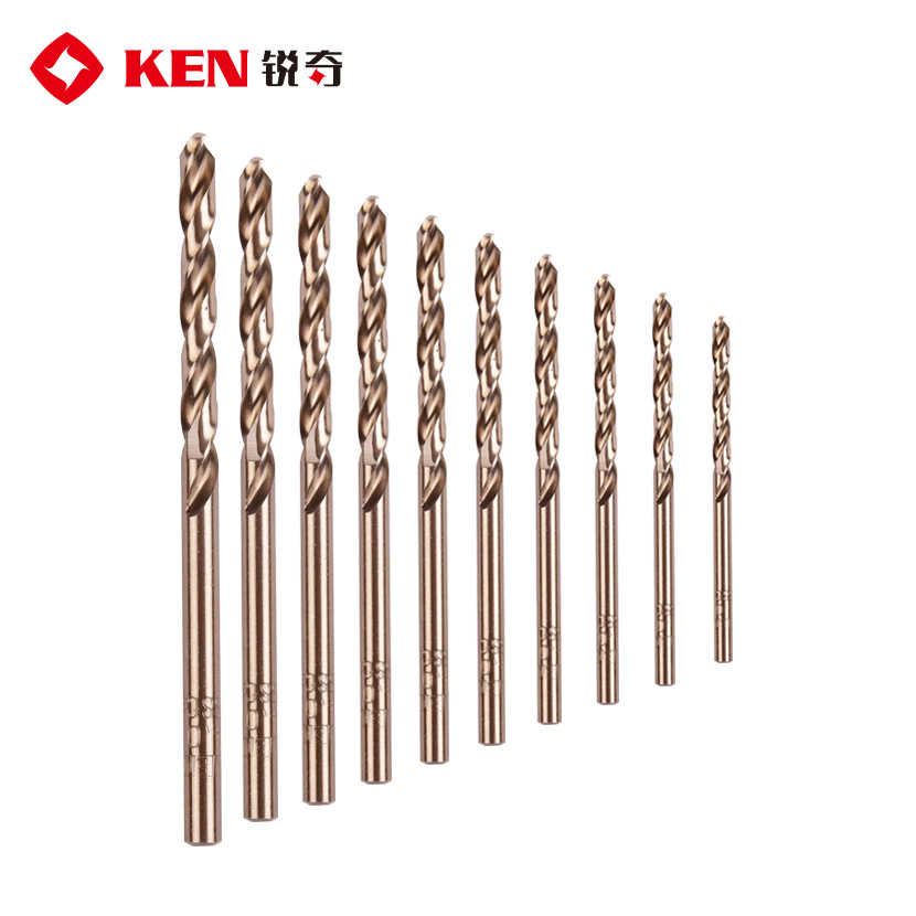 Ken authentic straight shank twist drill drill drill drill hss-co cobalt twist drill hole punched holes