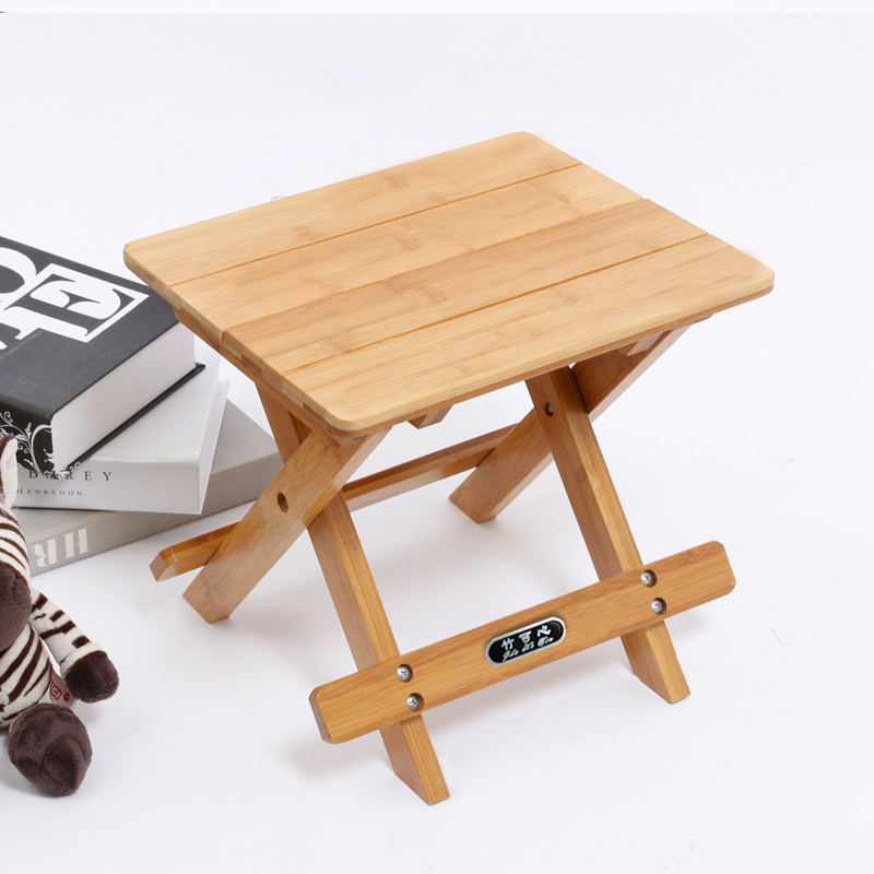 Kexin bamboo small square stool stool stool stool portable folding stool outdoor fishing stool mazar train liuwan specials