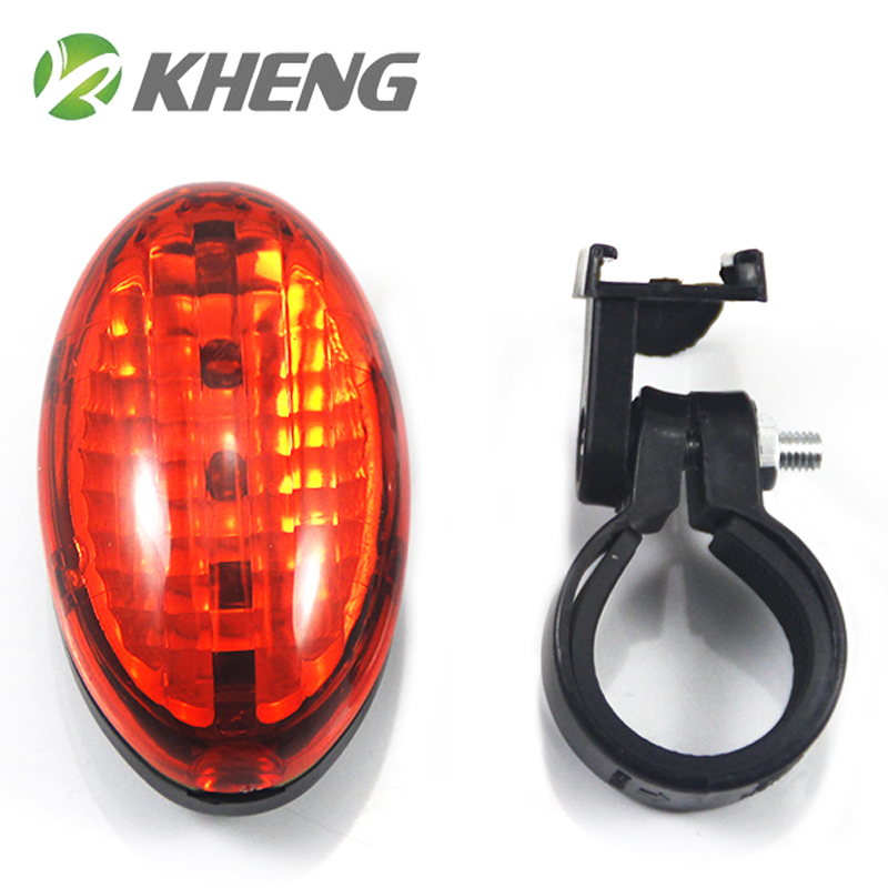 Kheng kai hang 5led bicycle taillights dead fly riding accessories and equipment safety warning lights mountain bike lights