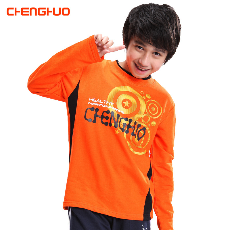 Kids boys autumn zhongshan university children's t-shirts for men and children long sleeve t-shirt sports bottoming shirt tide 7-9-10-14 years old
