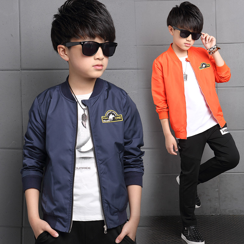 Kids boys coat autumn 2016 new children 7 children 8 9 big boy sports leisure 1 0 spring and autumn clothes 11
