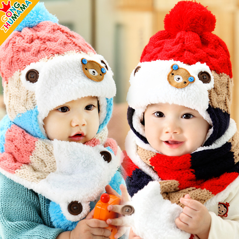 4d150493265 Get Quotations · Kids fall and winter baby hat children hat baby hat for  men and women 0-