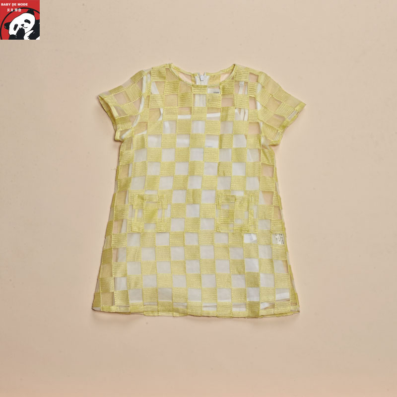 Kids spring and autumn spring and summer campaign targeting [babe modern authentic] short sleeve dress